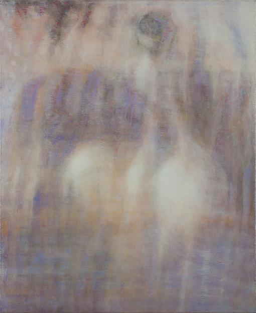 Bracha L. Ettinger, EURYDICE, THE GRACES, MEDUSA. 50 × 43.5 cm, oil on canvas, 2006–2012.©Courtesy of Bracha L. Ettinger Studio