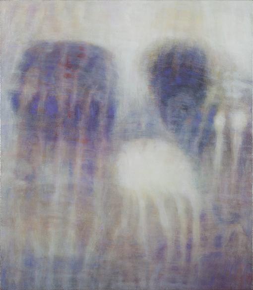 Bracha L. Ettinger, EURYDICE, THE GRACES, DEMETER. 50 × 41 cm, oil on canvas, 2006–2012.©Courtesy of Bracha L. Ettinger Studio