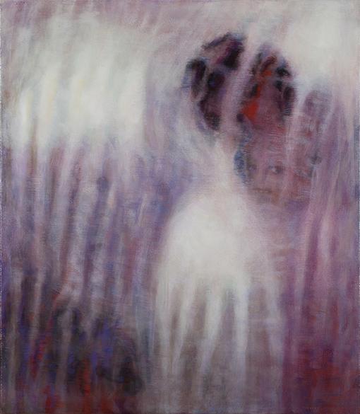 Bracha L. Ettinger, EURYDICE, THE GRACES, PERSEPHONE. 50 × 43.5 cm, oil on canvas, 2006–2012.©Courtesy of Bracha L. Ettinger Studio