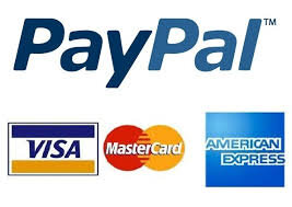 - Now accepting payment via:PayPal, Visa, MasterCard & American Express