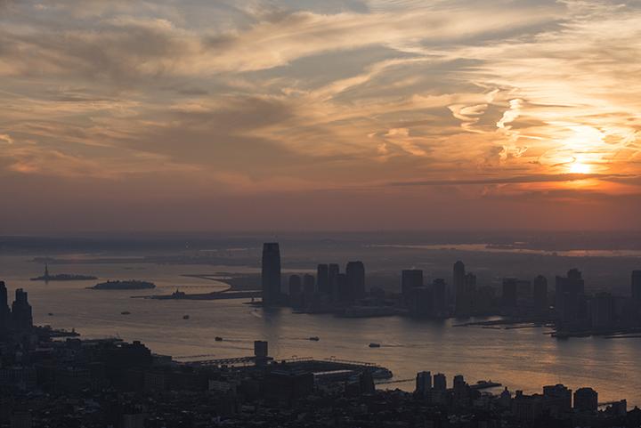 NY Sunset from Empire State Bdg. Nikon D800 - Nikkor 80-200 AF-D