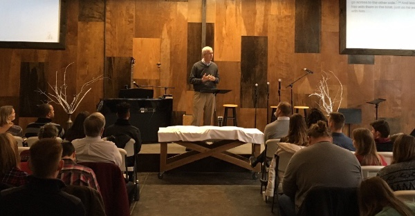 """Gabor preaching in KC. Title """"On the Other Side of Your Fears"""" from Mk 4:35-41. You can read that message  here."""