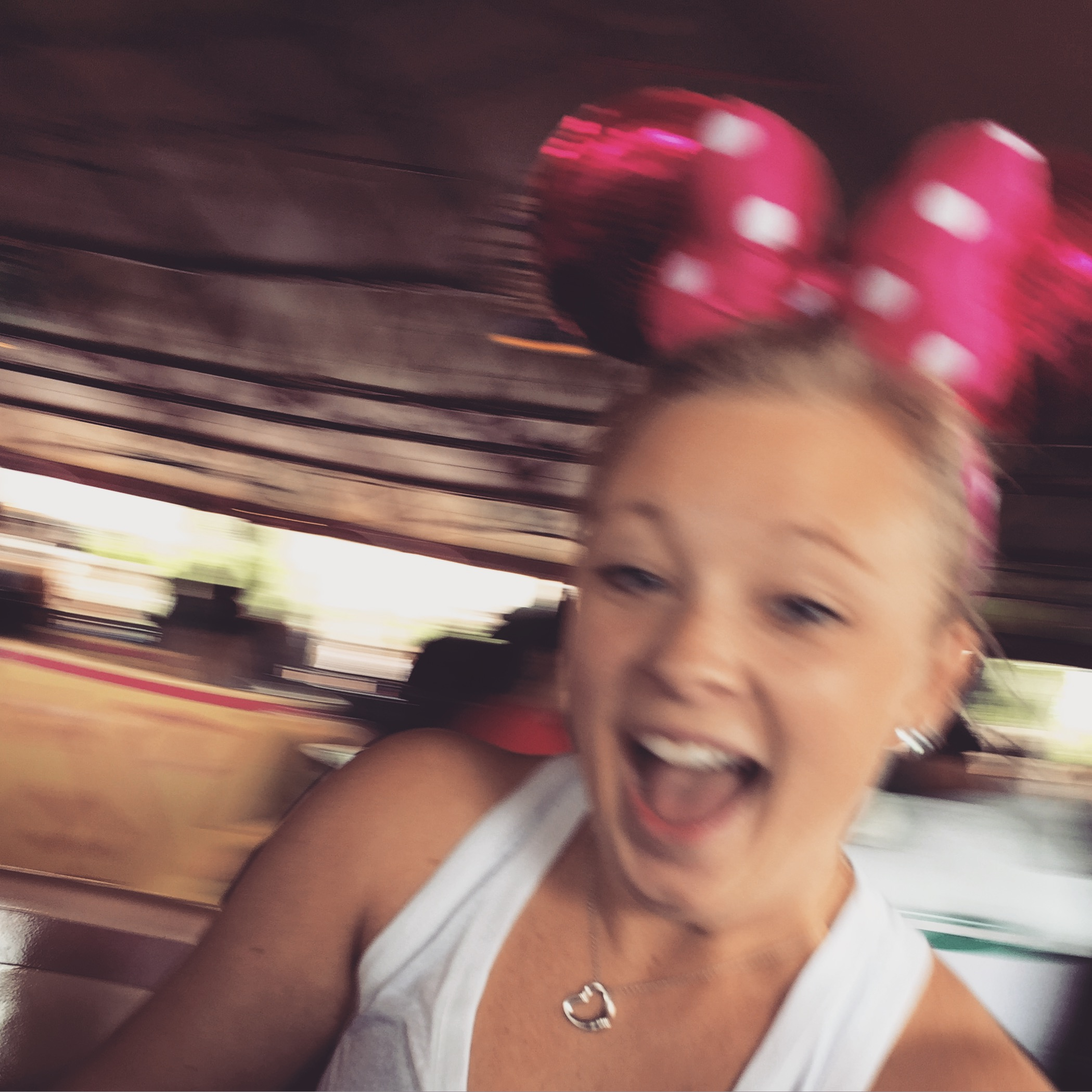 I couldn't go to Disneyworld for the first time and not have a blast in the park. I love the teacups- they never get old.