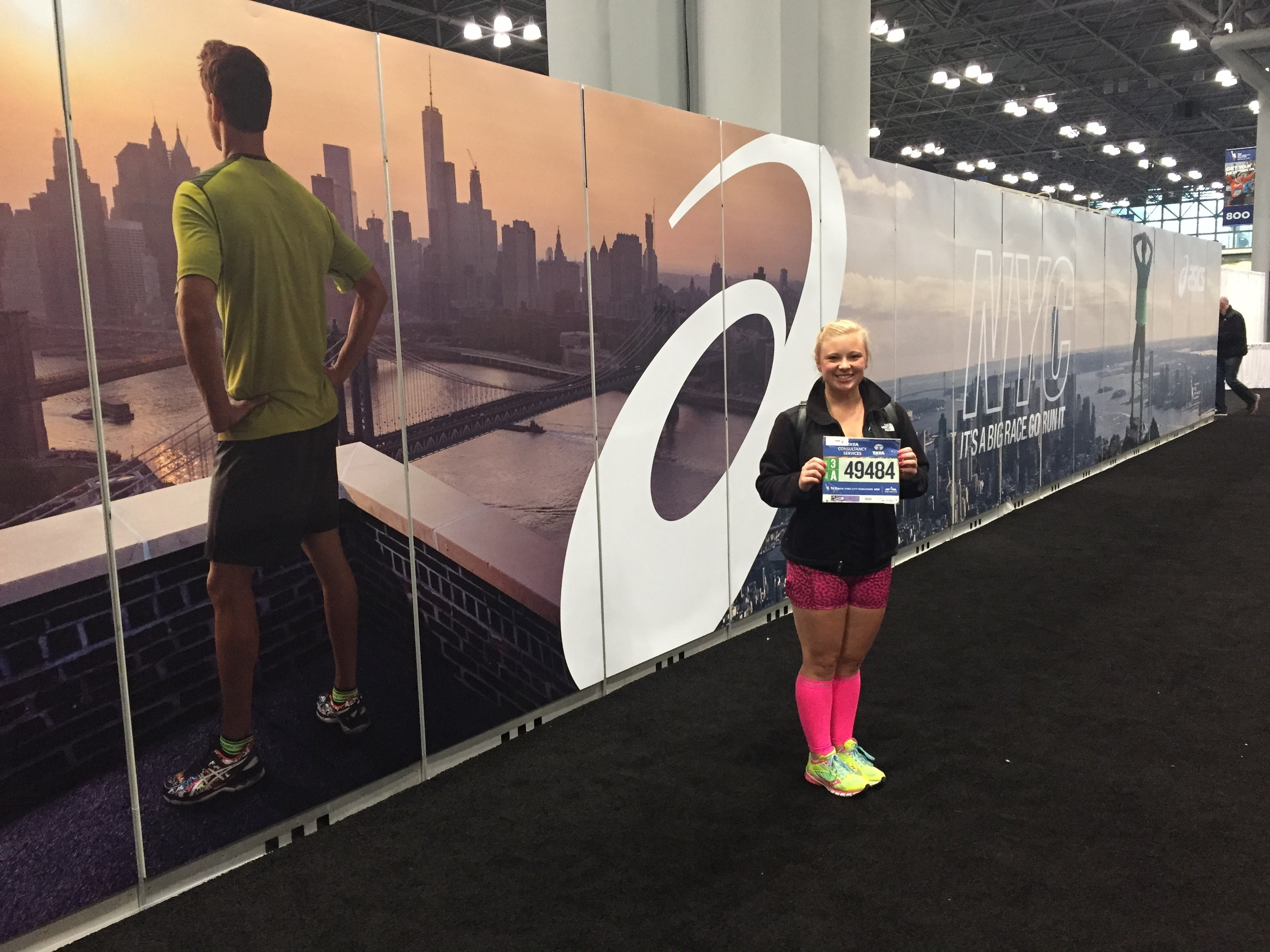 At the New York Marathon Expo!