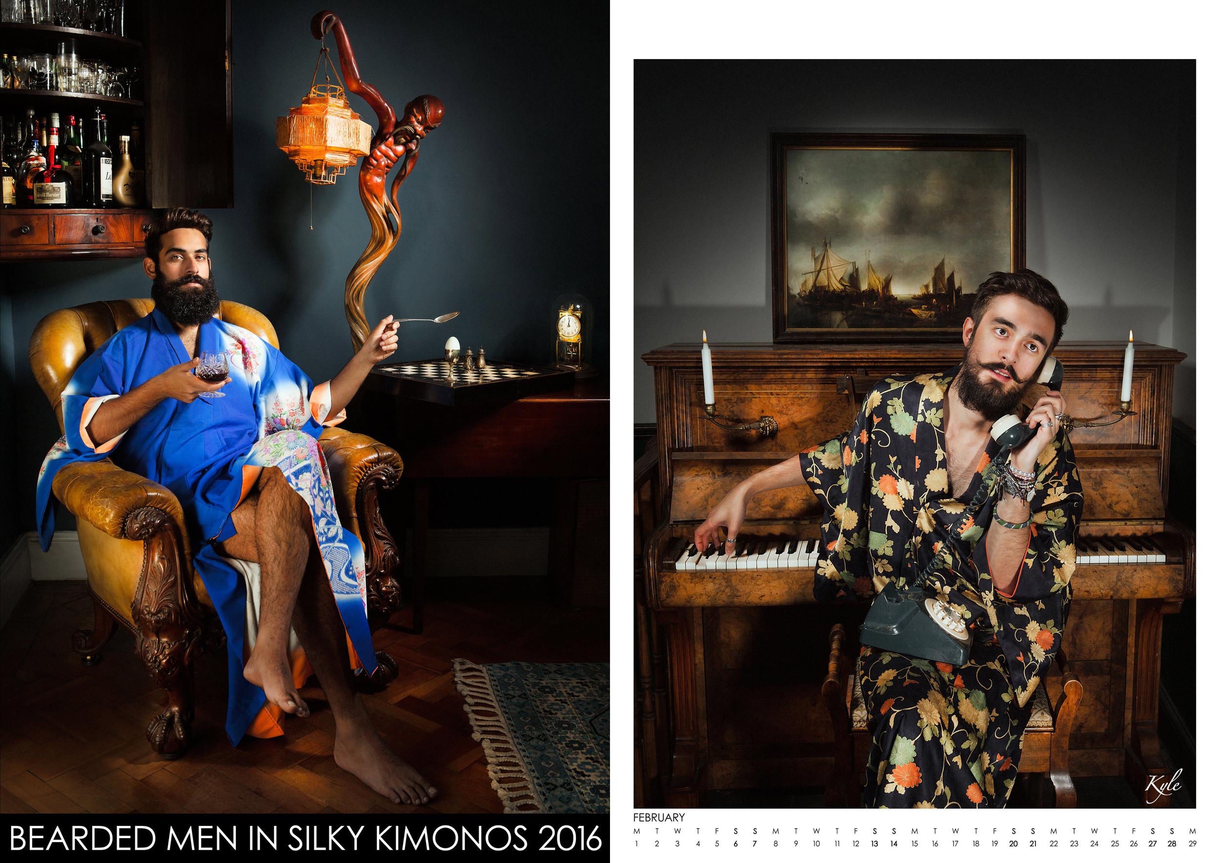 «Bearded Men In Silky Kimonos» calendar 2016