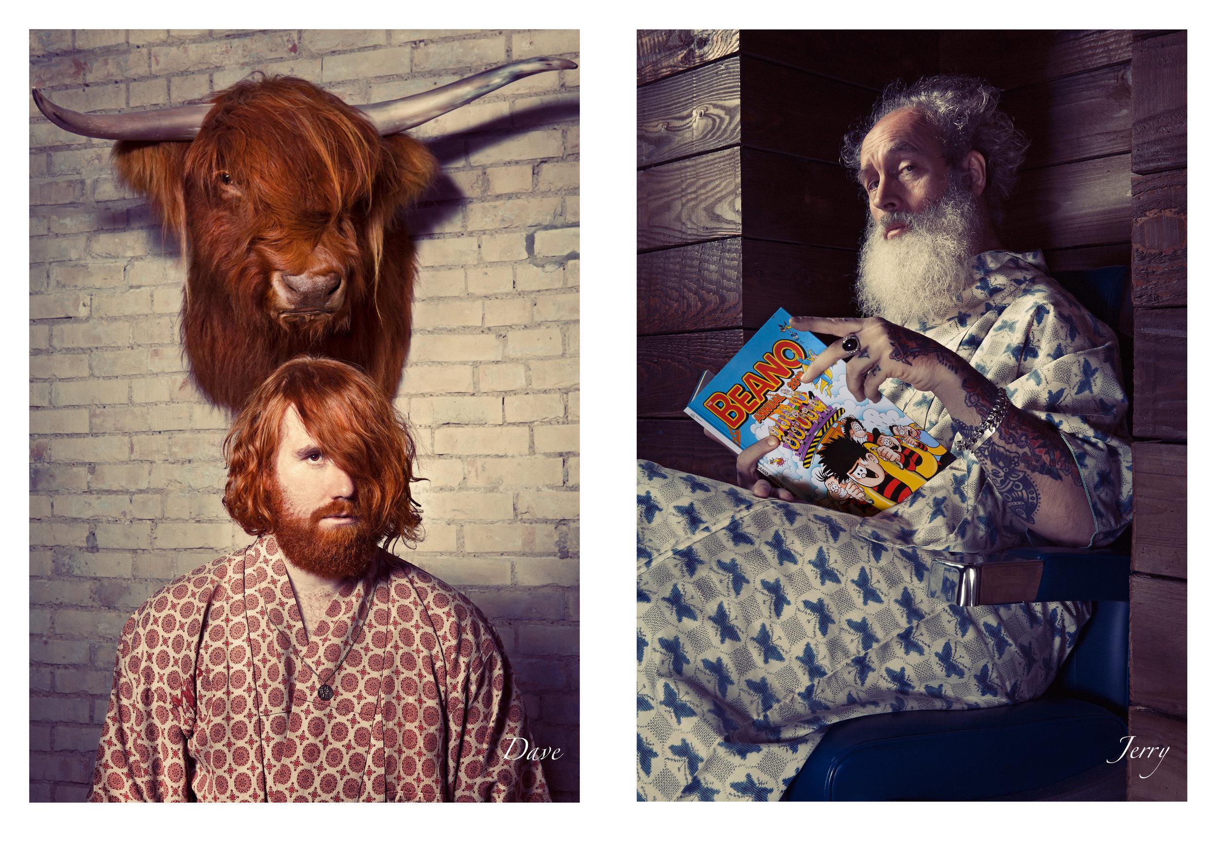 «Bearded Men In Silky Kimonos» calendar 2017