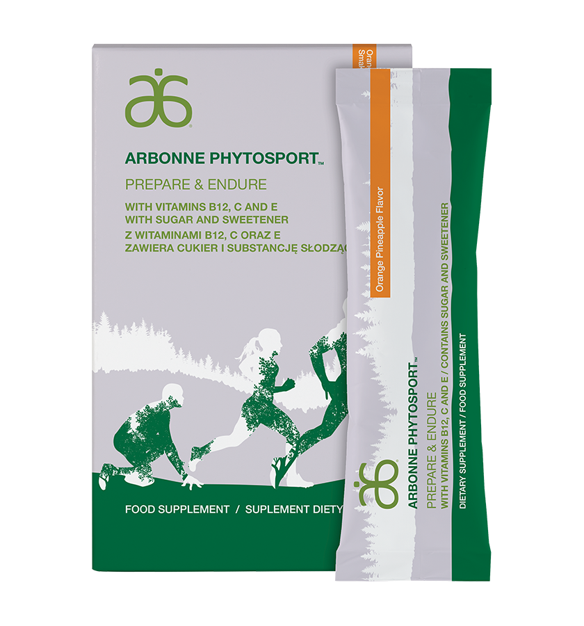 """Arbonne PhytoSport Prepare & Endure (#6099)    Be your best from start to finish. Maintaining endurance and energy is crucial to supporting peak physical performance. Carbohydrates, D-ribose and L-carnitine support energy and help prevent the """"crash"""" when you don't have the fuel you need. Key amino acids support nitric oxide production to help deliver oxygen to muscles and maintain healthy blood flow for optimum performance."""