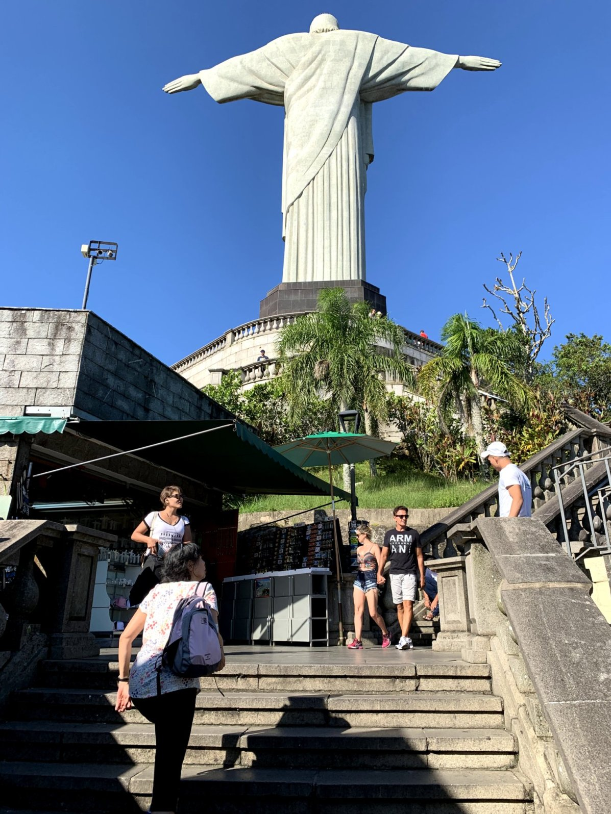 Walking up the final steps to Christ the Redeemer.