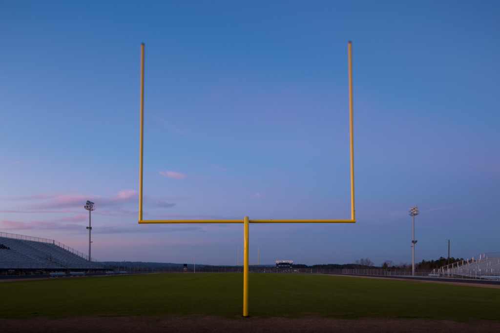 Helena AL High School Feild Goal Post sunset