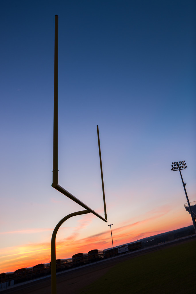 Shilouette Football Field Goal Post