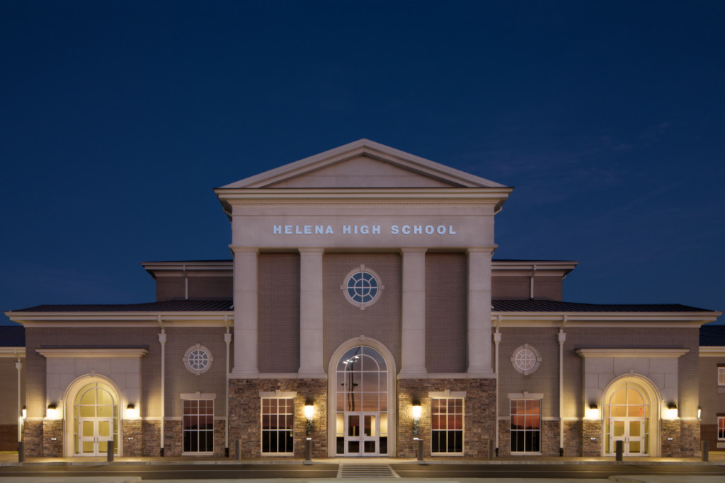 Helena AL High School  front evening