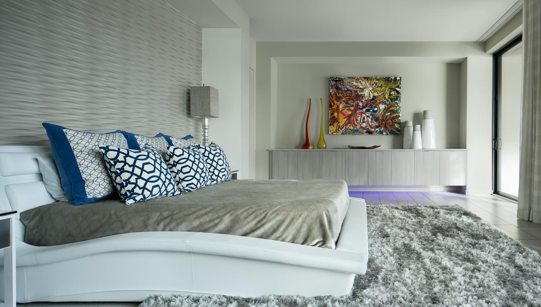 Master bedroom. Note the under cabinet lighting!