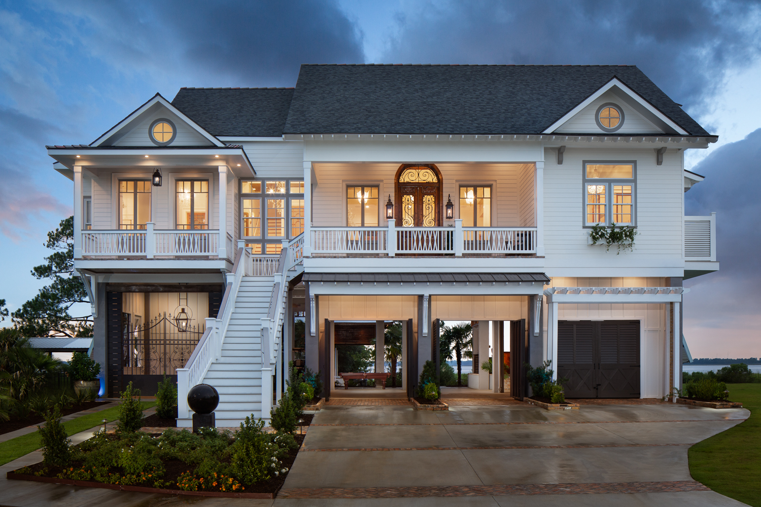 Project Ashwood - Waterfront residential new construction in Pass Christian Mississippi photographed for Watters Architecture