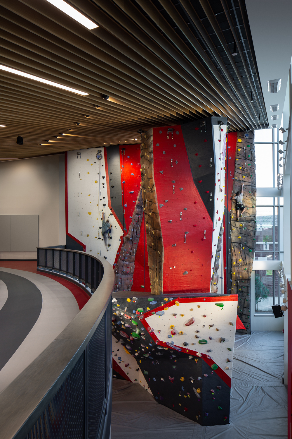 Loved having talent involved in this project, especially for the climbing wall! Used a slow shutter speed to convey motion as the models climbed.