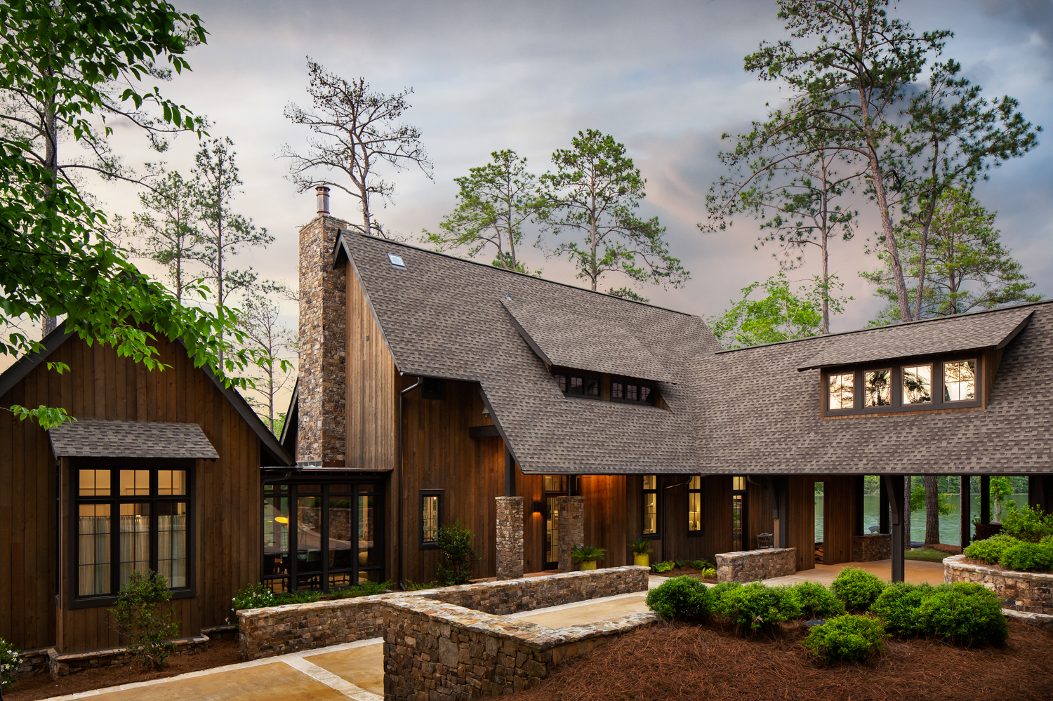 Lake Martin Project - Lake Martin luxury lake house photographed for Birmingham Magazine, Krumdieck architecture, and Russell Lands.