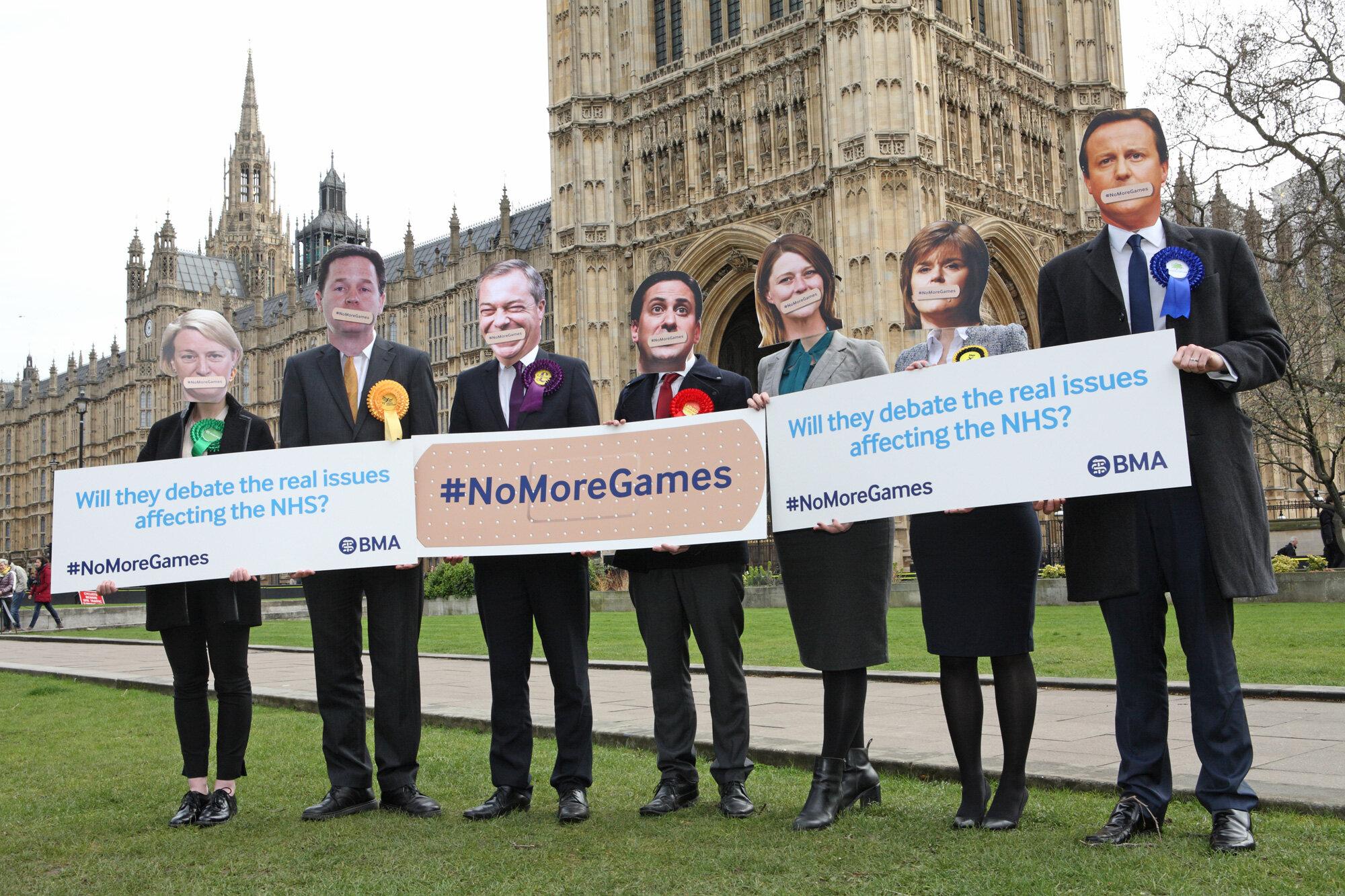 British Medical Association, No More Games Campaign, Westminster 2015