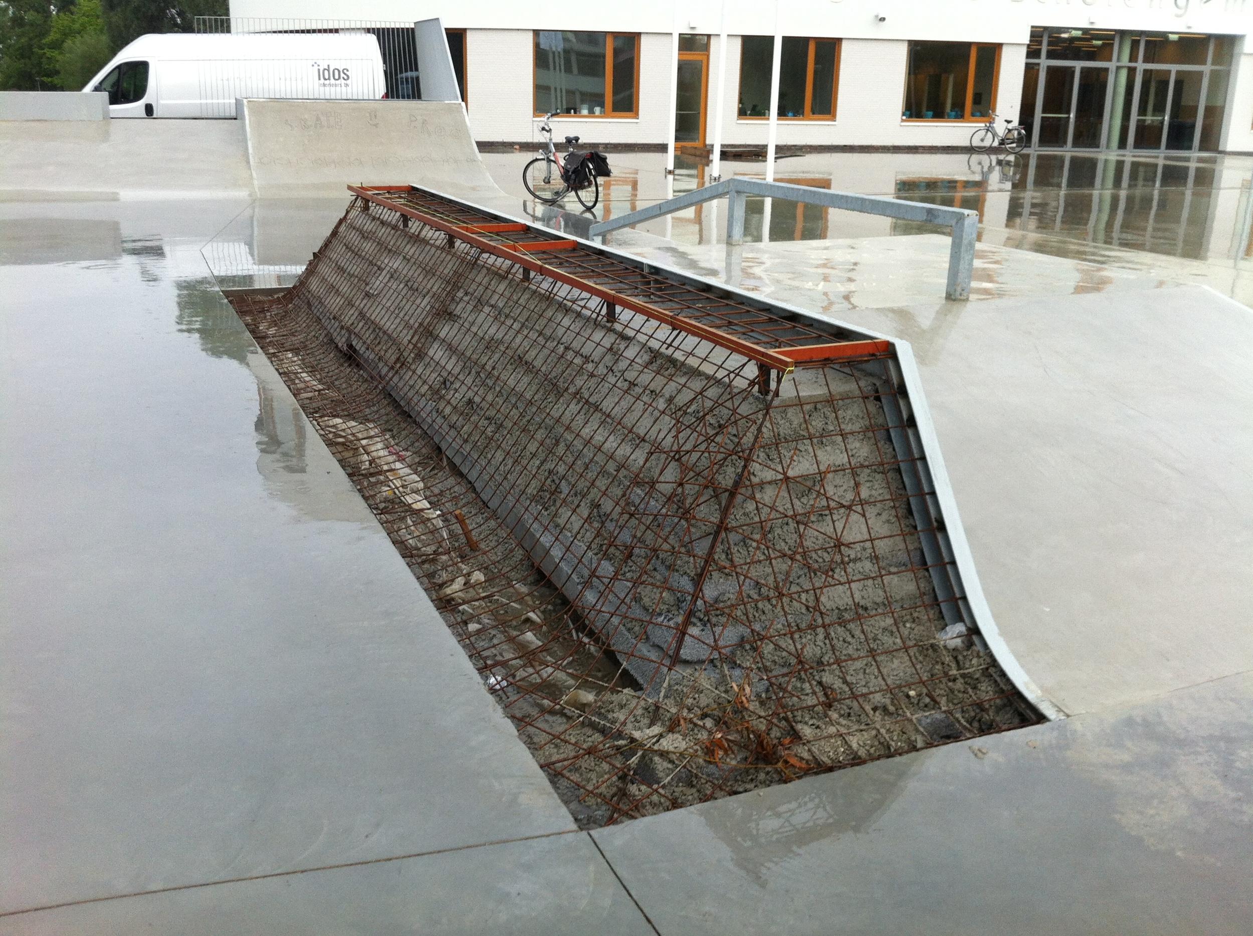 In Gouda waren wij onderdeel van de groep skaters die het skatepark heeft ontworpen.