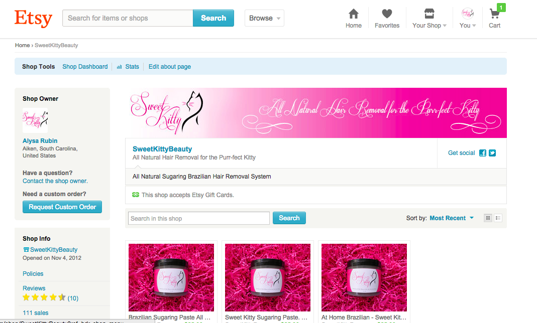 The Etsy Shop ~ Where it all began