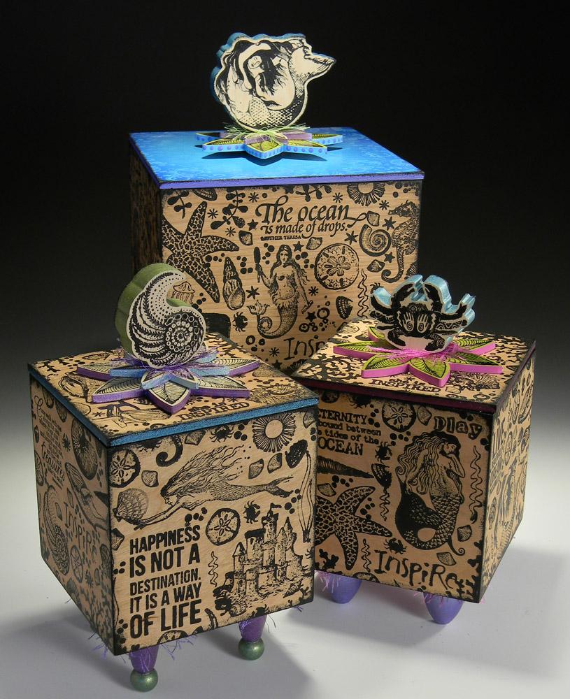 Trio of Beach Boxes