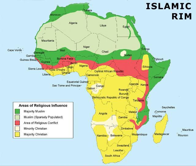 The Islamic Rim through Nigeria.