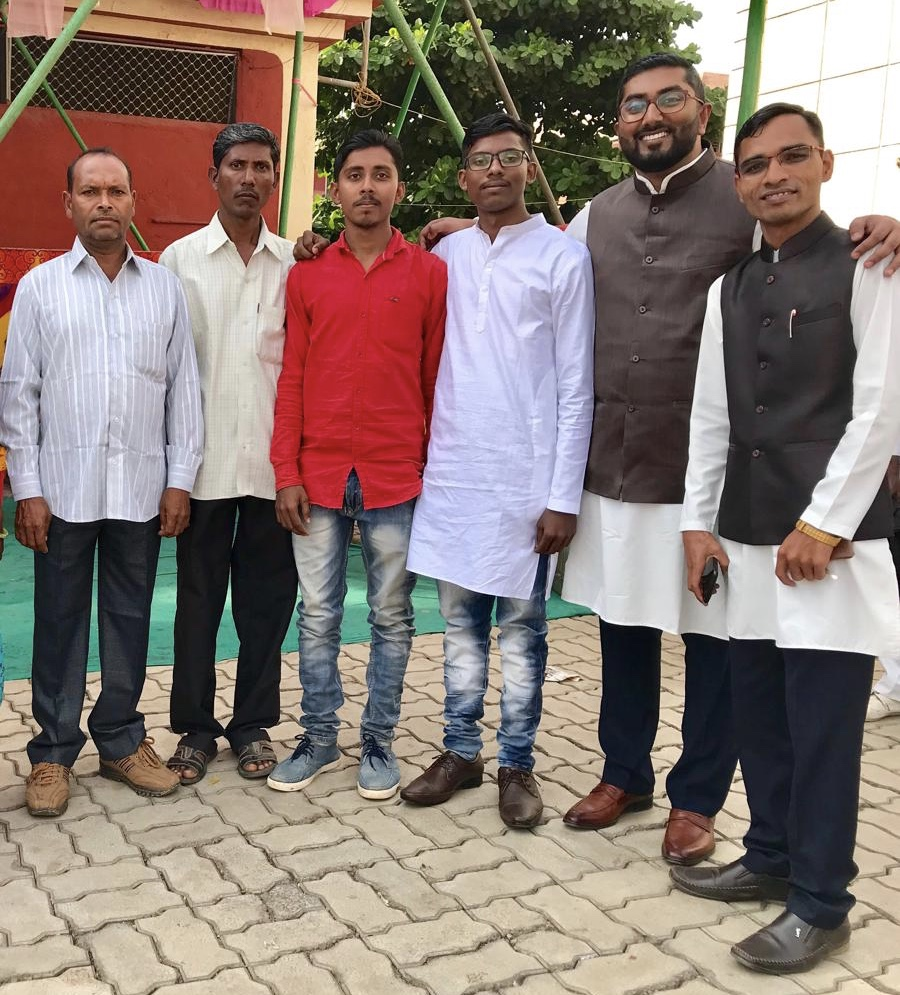 With the blessing of their fathers, the two young men pictured in the middle have committed to planting churches in unreached areas.