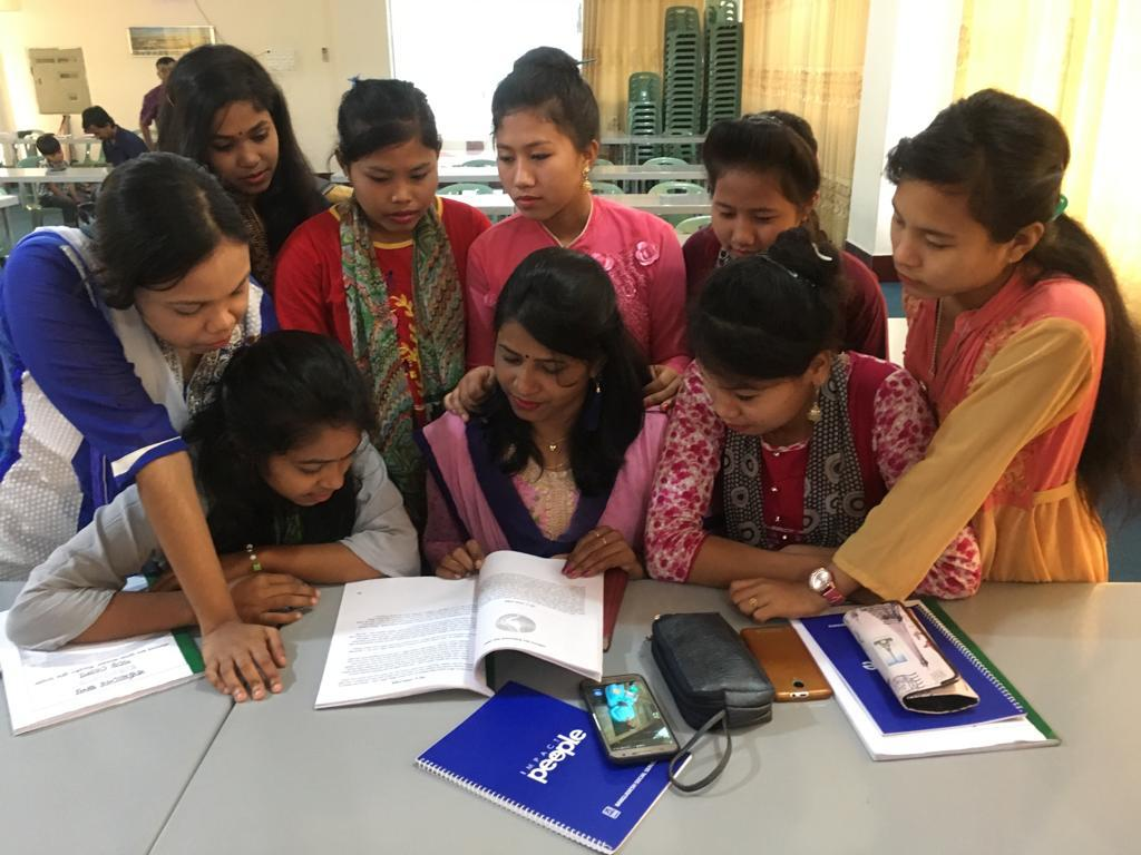 Young women in Bangladesh study a discipleship guide provided by the Esther Initiative. Through conferences and mentorship networks,  Raising Up Modern Day Esthers  teaches them scriptural foundations for living, strengthens them in their identity in Christ, and infuses leadership principles to help them trransform their communities with the gospel.