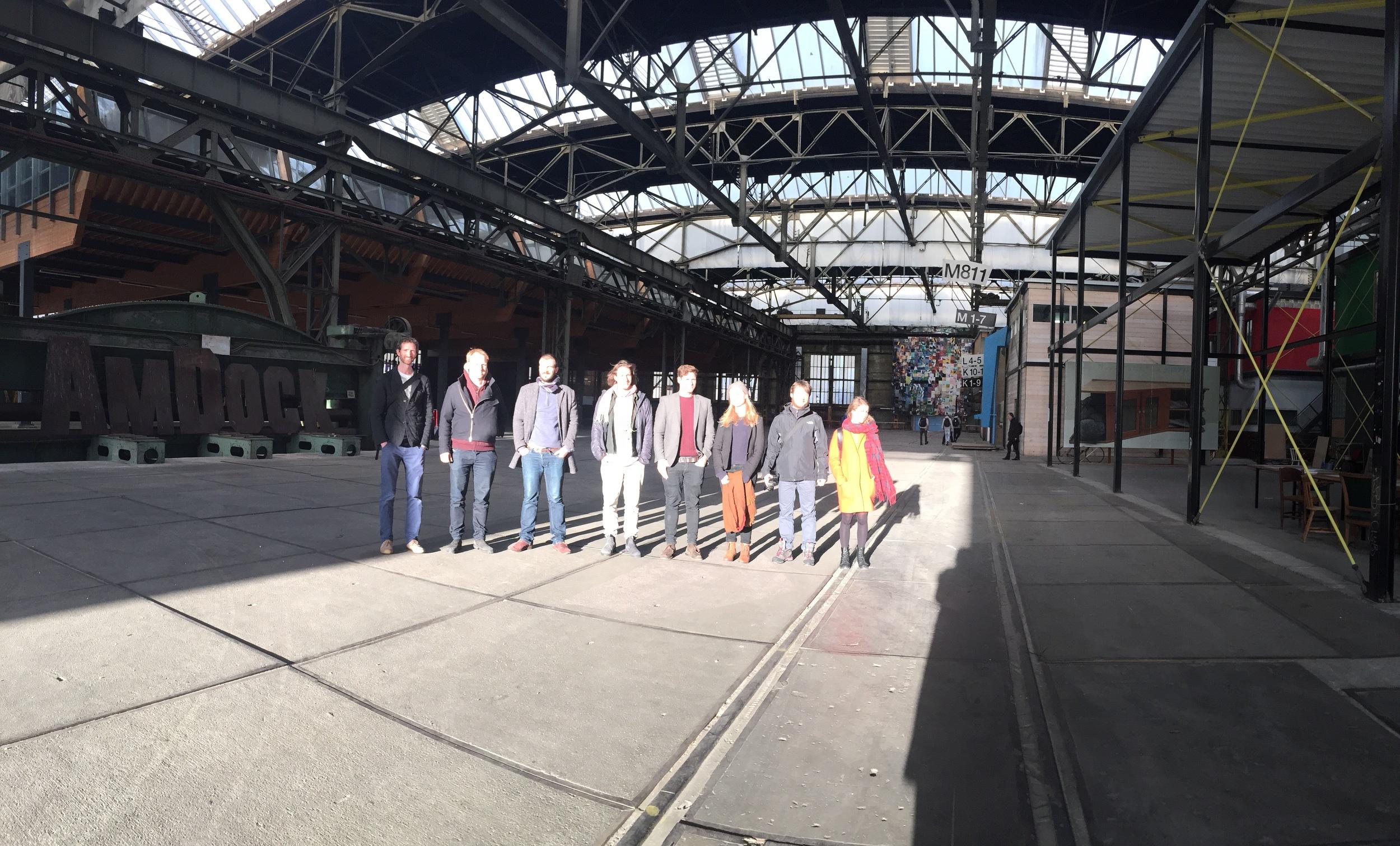 A + A team at NDSM, a former shipyard turned into a creative hub.