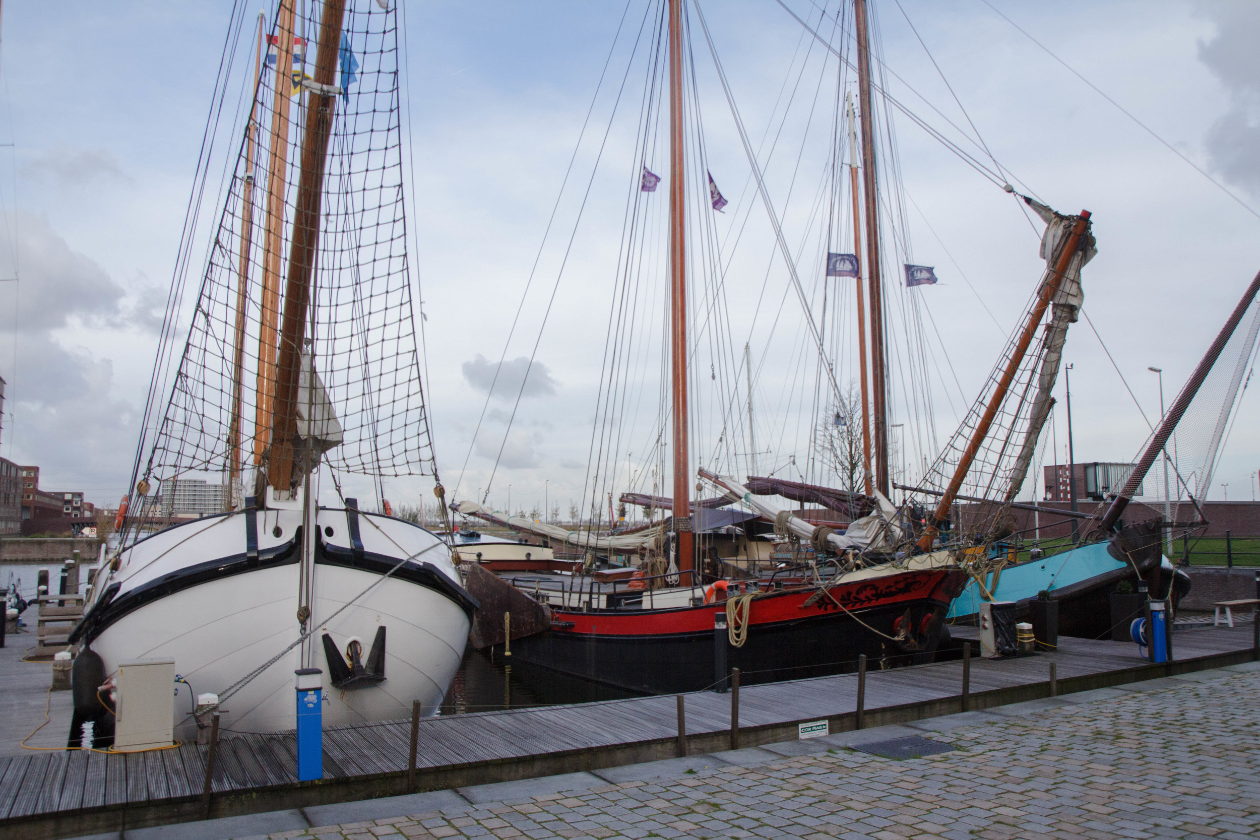 Moored by the island of Ijburg:A + A headquarters for three days.