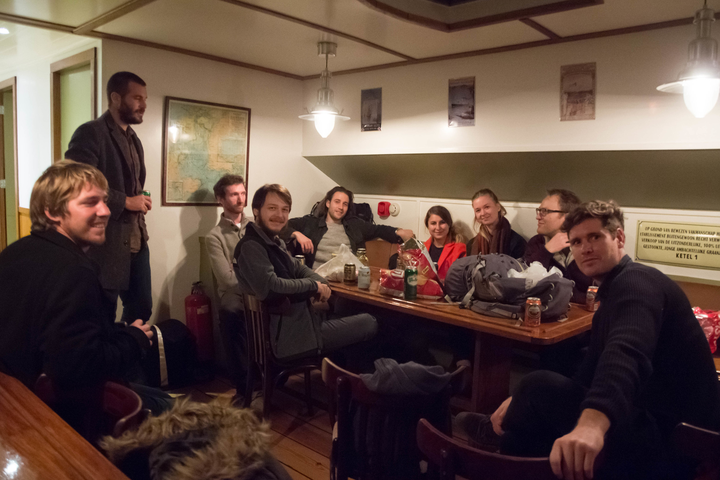 Our host Pepjin (dutch for Popeye?) welcomed us to his wonderfully atmospheric early 20th century barge.