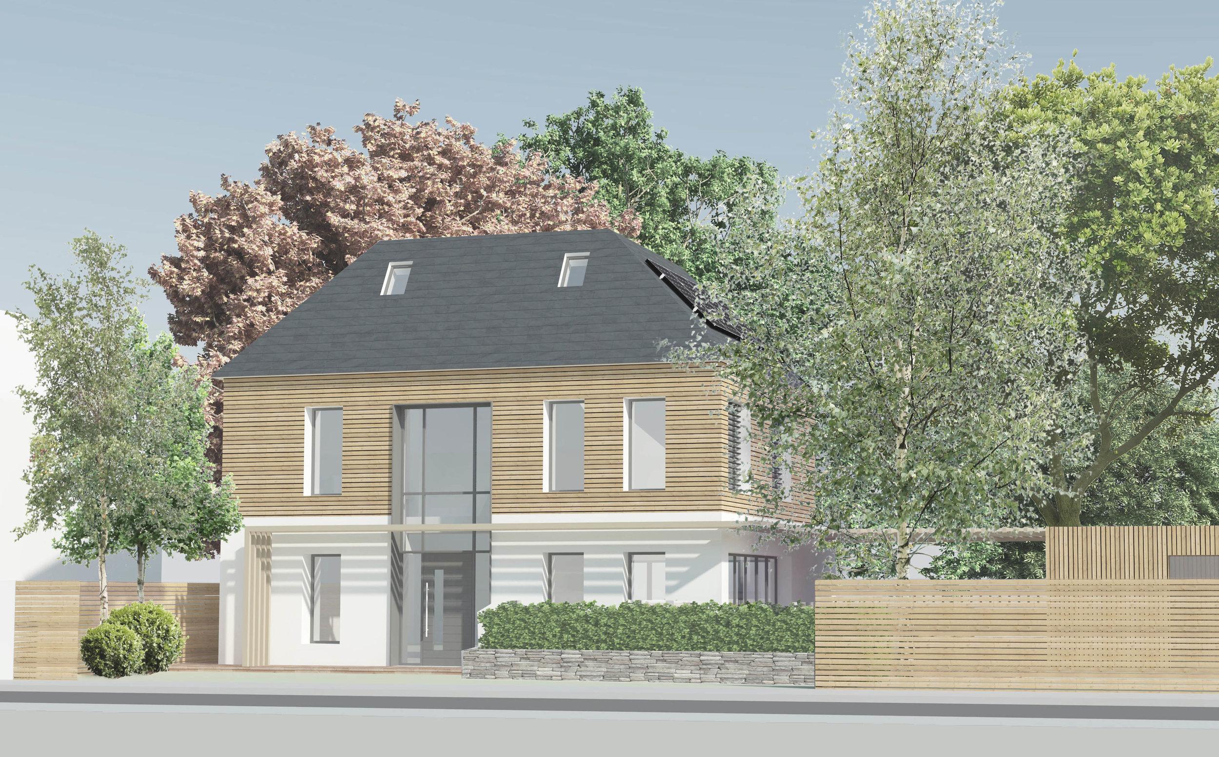 Mada Road Passivhaus    Location: Orpington   Floor Area: 230m2   Budget: £500,000   Client: Phil and Sam   View More