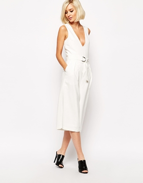 Asos: Wore this to a  summer wedding . Culottes and pockets and low plunge. The Trifecta!
