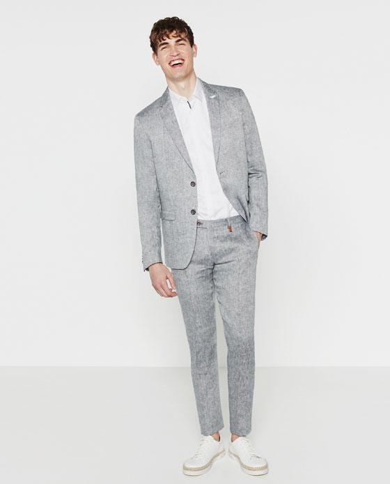 Zara's Grey Suit. Dreamy.