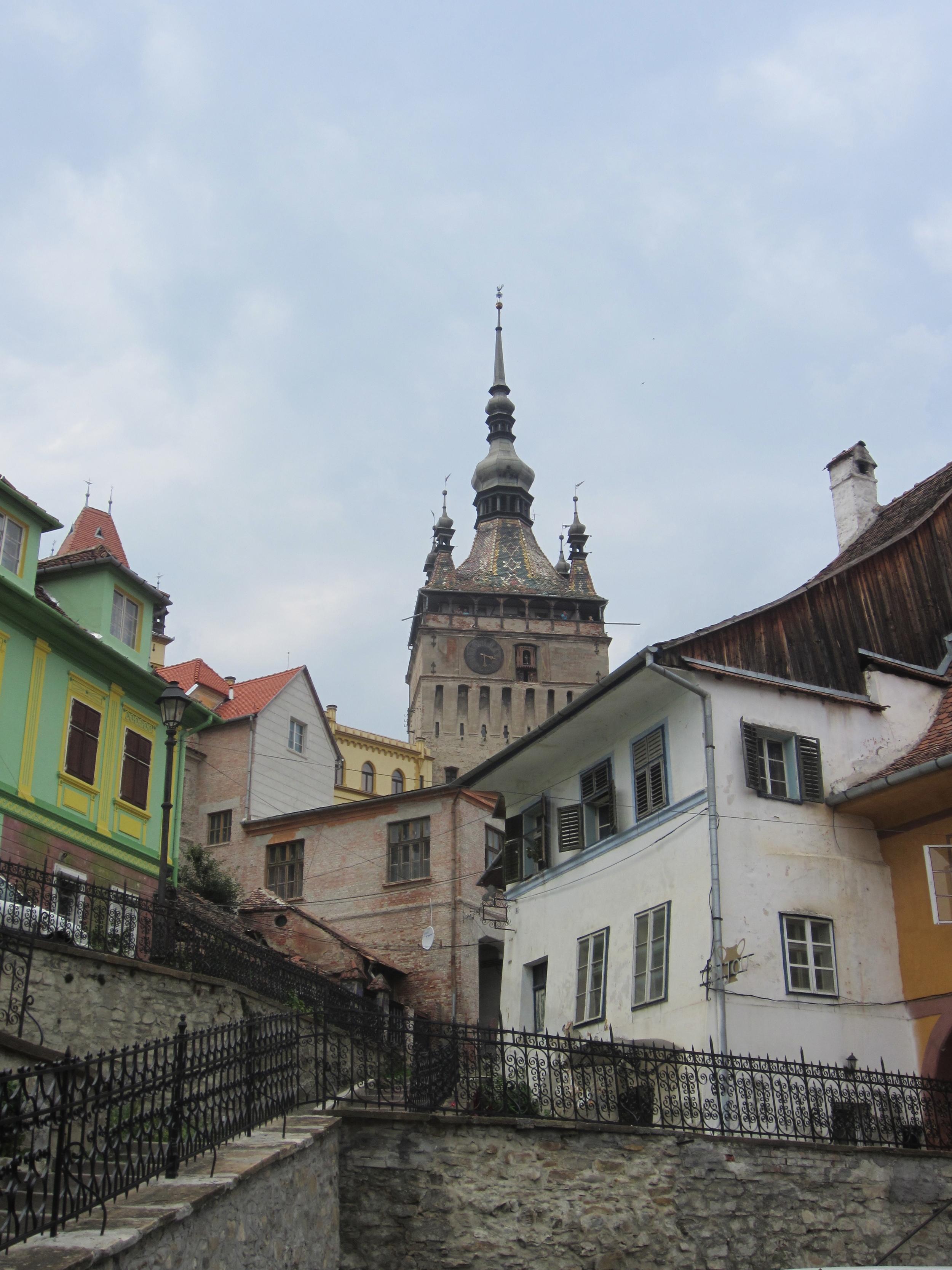 Looking up at Dracula's birthplace