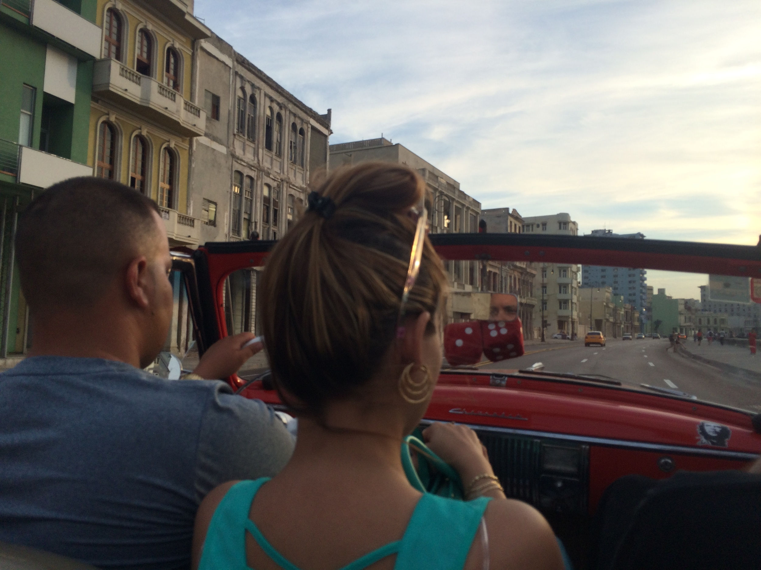 Cruising The Malecon in a '52 Chevy Deluxe