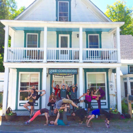 Good Commons Plymouth Vermont, Sarah Diedrick retreat group, Vermont yoga retreat Sarah Diedrick