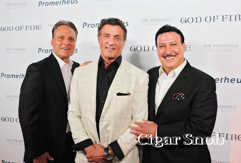 Tim Noonan, Sylvester Stallone and Carlos Fuente Jr.