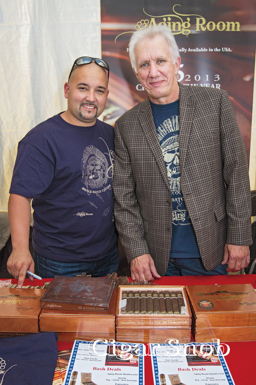 Aging Room Cigar's Charles Lopez and Hank Bischoff