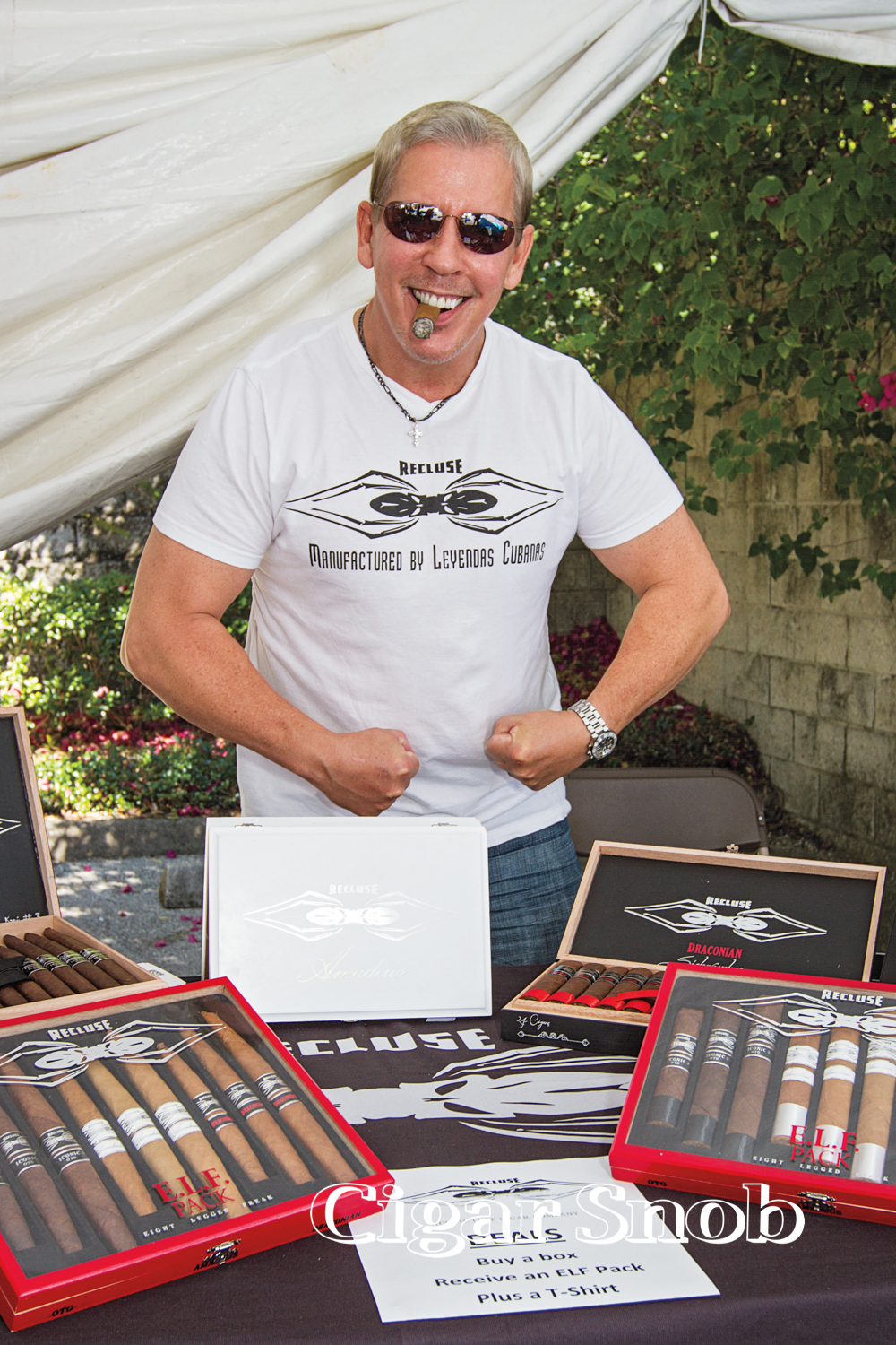 Suns out, guns out for Recluse Cigar's Scott Weeks