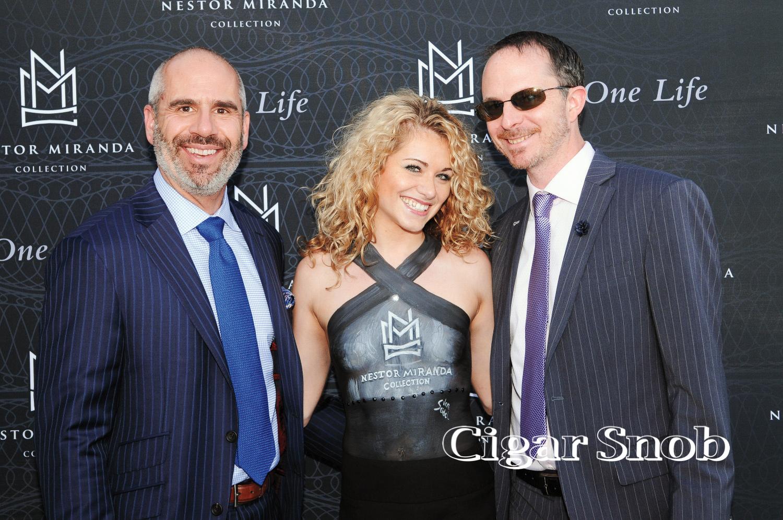 W. Curtis Draper's John Anderson and Matt Crimm pose with Julia Maria