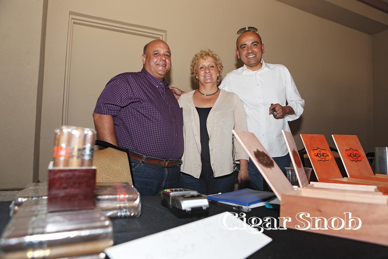Joe and Debbie Chiusano with René Castañeda