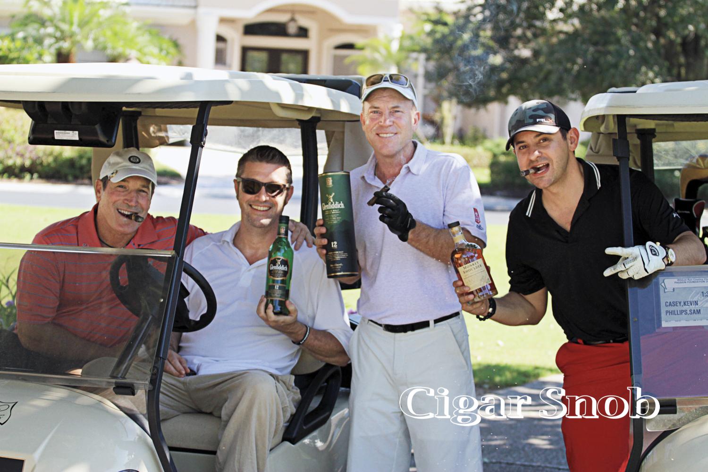 Team Alec Bradley preparing to drown their golfing sorrow