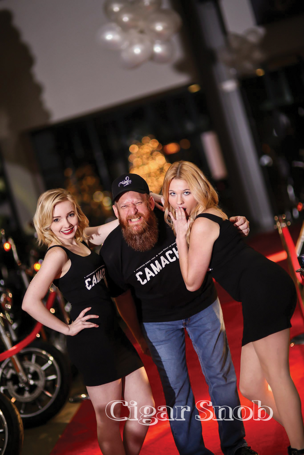 """""""Fuel Tank Frank"""" with the Camacho girls."""