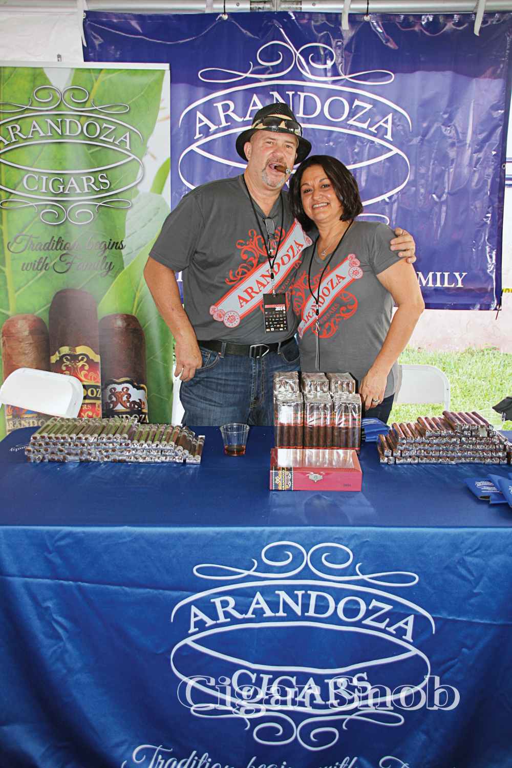 Robert and Pilar Arango of Arandoza Cigars