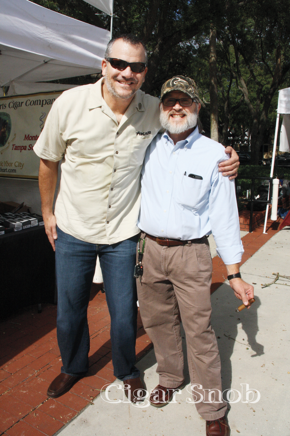 Nelson Boronat with Duck Dynasty's Rex Snyder