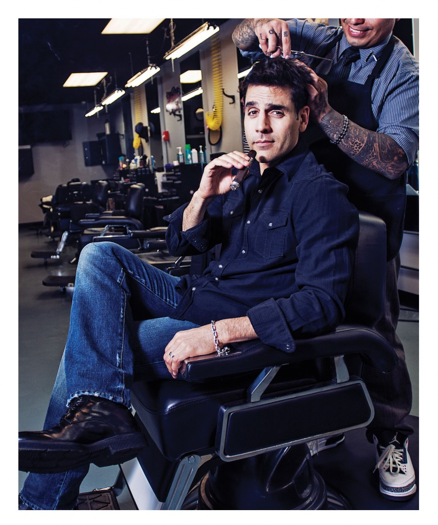 Rookie Blue's Ben Bass knows tells us he takes his smoked with him everywhere he goes. He might not have had barber shops in mind, though.