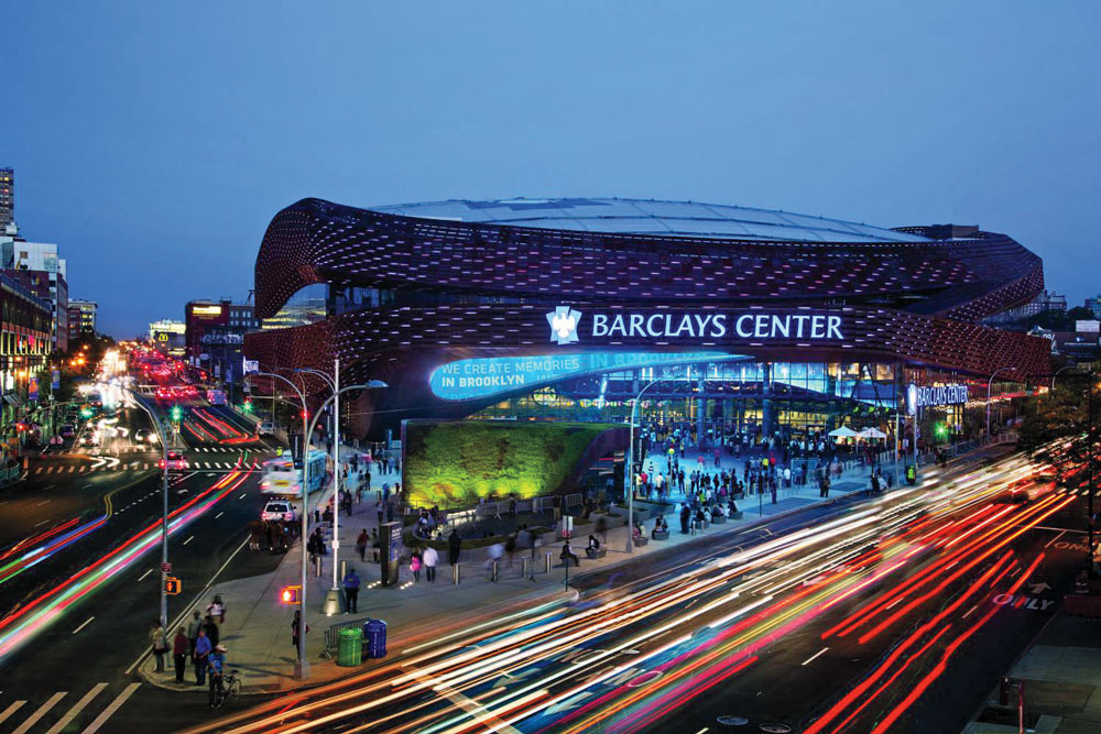 Barclays Center, home of (among other things) the Brooklyn Nets