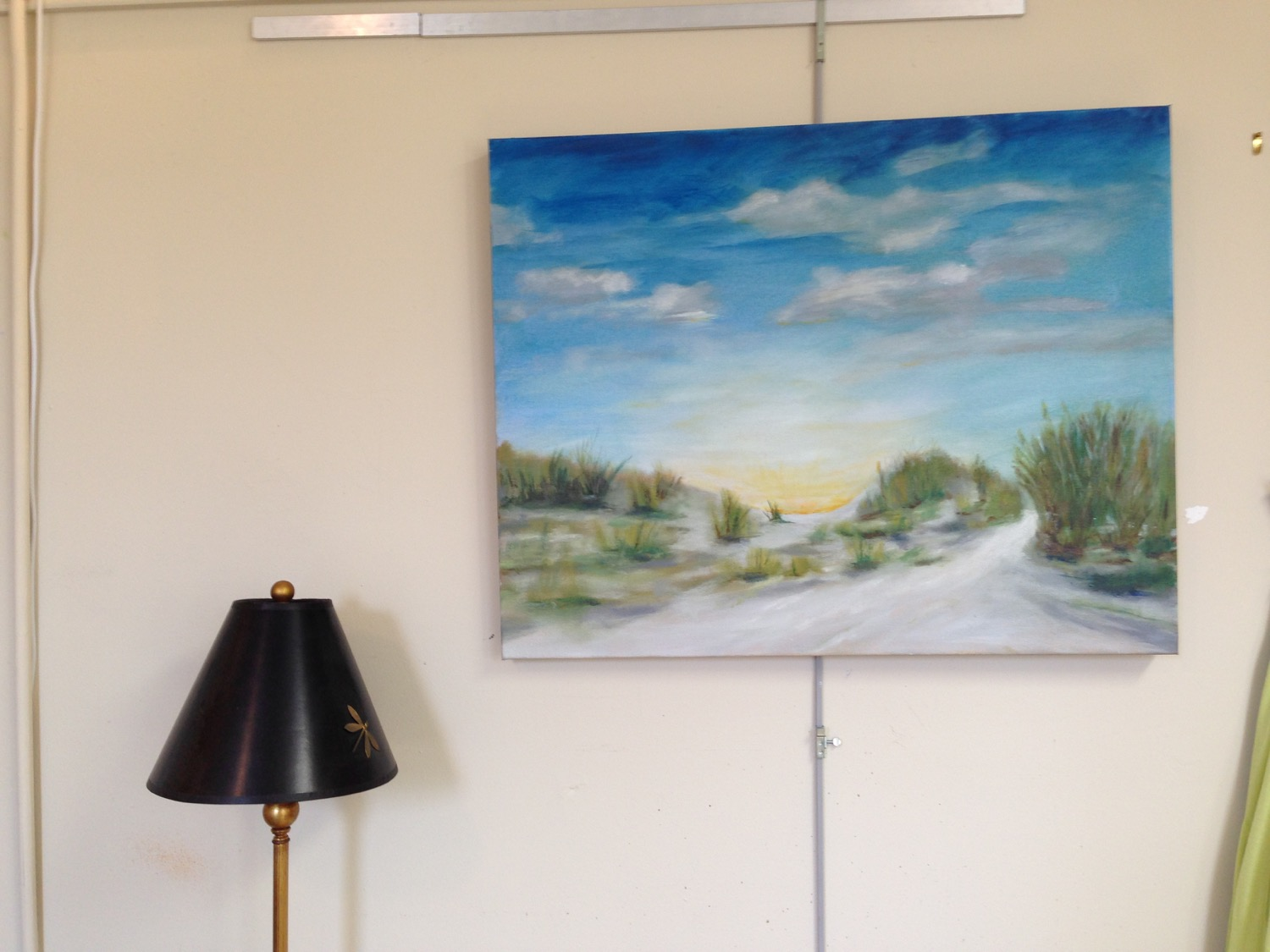 "The ""finished"" painting hanging on my studio wall."