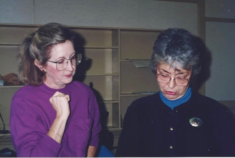 Marian Jansen and Alice bachman
