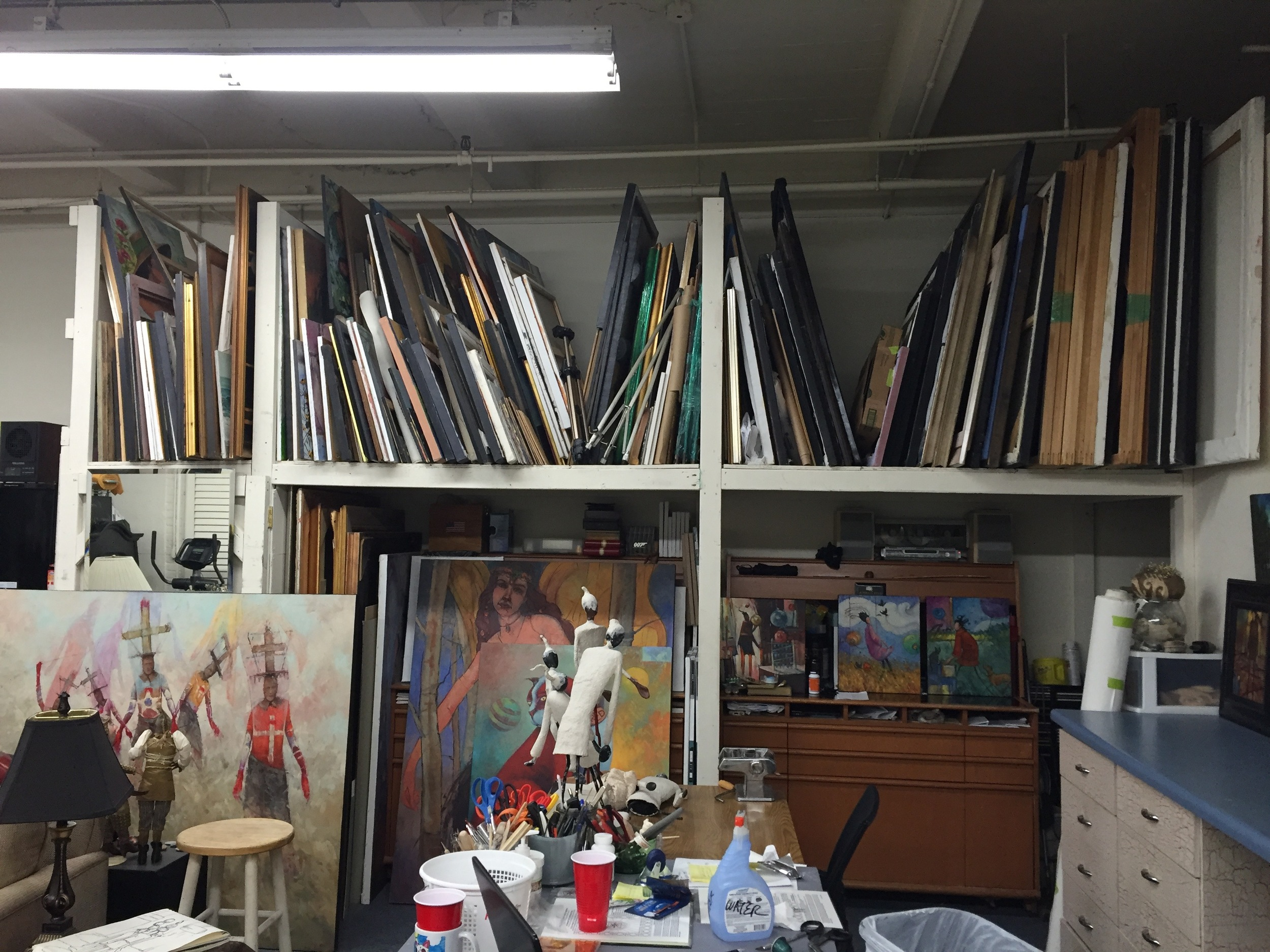 Storage for painting and files