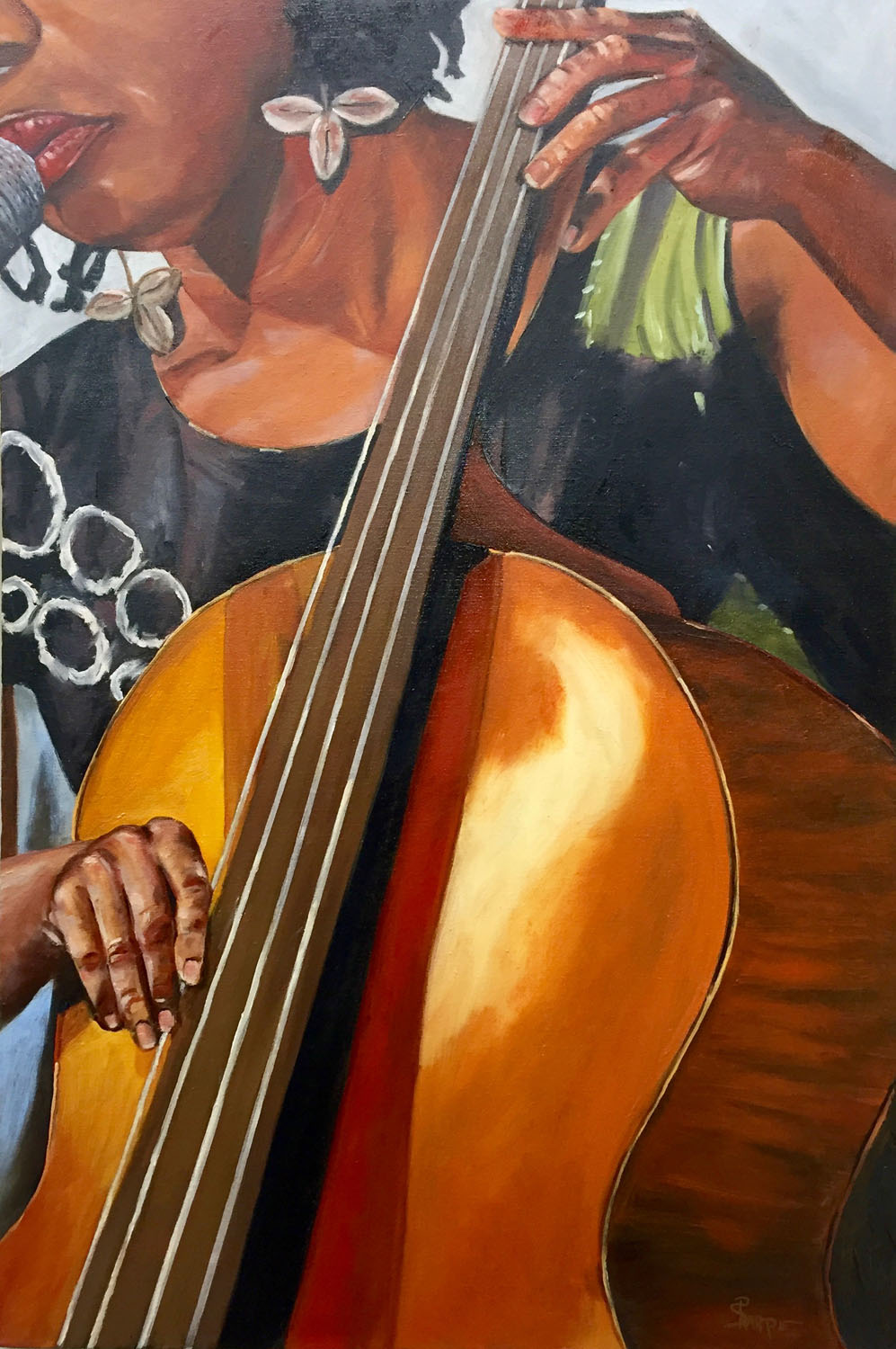 'Shana' 20 x 30 on museum wrapped canvas with black sides- Oil painting